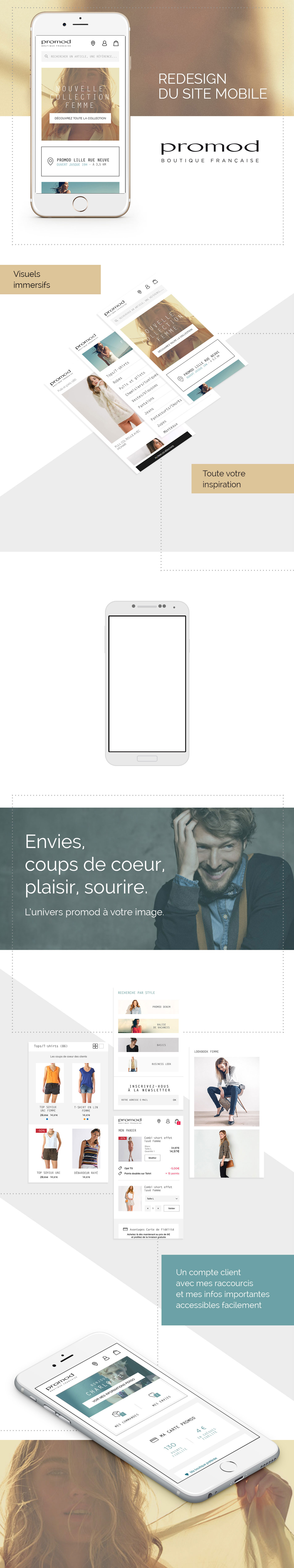 Site mobile Promod